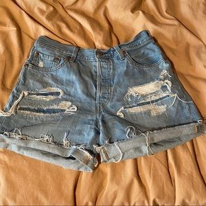 Levi's Distressed 501 Shorts